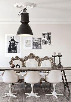 Antic&Chic. Decoración Vintage y Eco Chic: [Get the look] Cómo decorar un comedor con una mesa de madera contundente