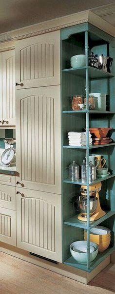 90 pretty farmhouse kitchen cabinet design ideas (47)