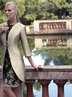 2015 New Arrivals Mother of Bride Groom Dresses Scoop Long Sleeves Brooch Gorgeous Sheath Lace Knee Length Social Occasion Mother's Suit Bride Groom Dress, Groom Outfit, Bride Gowns, Glamour, Summer Collection, Mother Of The Bride, Dress Outfits, Marie, High Neck Dress