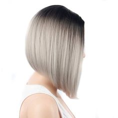 Short Straight Grey Wig for Women Short Bob Cut Heat Resistant Wigs Synthetic Wig Bob brand new high qualityColor:as the picture * wig Grey Blonde, Black And Blonde, Blonde Color, Blonde Bob Hairstyles, Wig Hairstyles, Red Pink Hair, Short Human Hair Wigs, Ombre Wigs, Short Straight Hair