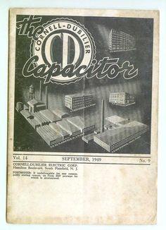 Vintage CornellDubilier Electric Corp CD The by FairOaksAntiques, $15.99
