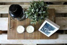 Un DIY para una bandeja simple y rústica
