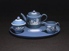 Tea Set  Wedgwood Jasperware, England, 1785  The Brooklyn Museum