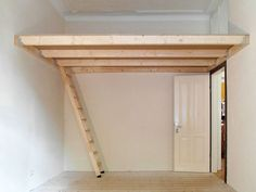 Loft Beds For Small Rooms, Bedroom Decor For Small Rooms, Diy Bedroom Decor, Bedroom Ideas, Build A Loft Bed, Loft Bed Plans, Edgy Bedroom, Bedroom Loft, Tiny Loft