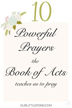Prayer served a vital role in the life of the early church. In the Book of Acts, Luke records many times the believers prayed to God in Jesus' Name. I am s