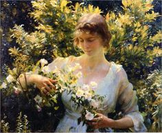 """Summer morning"" by Charles Courtney Curran (american)"