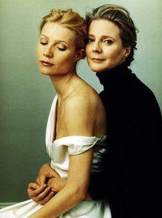 Gwyneth Paltrow and Blythe Danner by Annie Leibovitz