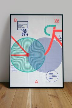 Grupa Projektor. Poster – The 4th International Biennale of Urban Art OUT OF STH. Main theme: BICYCLE.BWA Awangarda Gallery, Wrocław, Poland