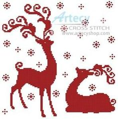 This counted cross stitch pattern of Reindeer Silhouettes was created from an image copyright of Beaubelle - Alamy. Description from crosstitch.com. I searched for this on bing.com/images