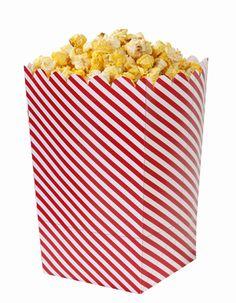 Rot Weiss - Popcorn Tüten groß