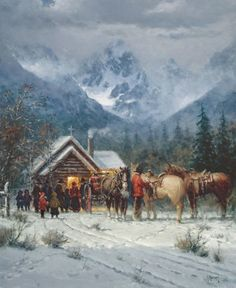 22 x 18 Limited Edition Print by G. Harvey available at J Watson Fine Art. Harvey, widely known for his western art and depictions of turn-of-the-century America. You can find out more about this print or request a quote on our page. Western Comics, Western Art, G Harvey, Winter Scenery, Cowboy Art, Southwest Art, Le Far West, Old West, Native American Art