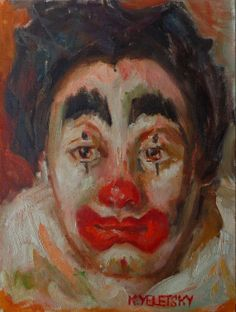 Because Im Happy The Clown Vintage 1960s Clown by artworksvintage, $200.00