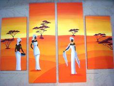 Pintura de negra africana - Imagui