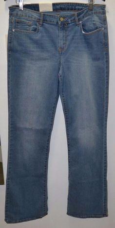 NEW Calvin Klein Jeans Women's Modern Boot Blue Jean Pants Size 14 X 32 #CalvinKlein #ModernBoot