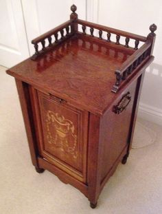 Supply Antique Quality Victorian C1880 Inlaid Rosewood Coal Scuttle Box High Standard In Quality And Hygiene Antiques