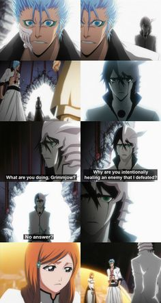 Grimmjow, Ulquiorra and Orihime.