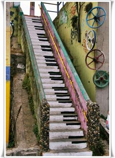 piano stairs or make a pathway