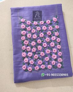 Best 12 Call/whatsapp 9035330901 for hand worked kurti/dress materials customisation. Embroidery On Kurtis, Kurti Embroidery Design, Embroidery Neck Designs, Bead Embroidery Patterns, Hand Embroidery Flowers, Hand Embroidery Tutorial, Couture Embroidery, Hand Embroidery Stitches, Embroidery Fashion