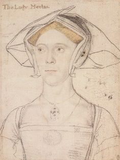 Small straps on Lady Meutas. 1536 Fichier:Lady Meutas, by Hans Holbein the Younger. Hans Holbein Le Jeune, Neo Rauch, Karl Hofer, Hans Holbein The Younger, Tudor Fashion, Portrait Sketches, Elizabeth I, Tudor History, The Draw