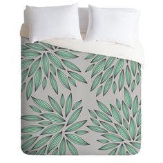 Amazon.com - DENY Designs Gabi Mint Duvet Cover, King -