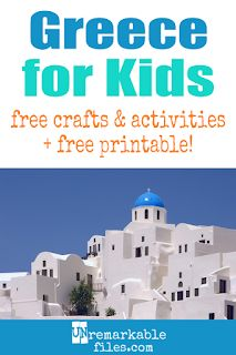 The Educational Summer Vacation: Studying Greece Learning about Greece is fun and hands-on with these free crafts, ideas, and activities for kids! Free Activities, Kindergarten Activities, Educational Activities, Learning Activities, Homeschooling Resources, Family Activities, Geography For Kids, World Geography, Teaching Kids