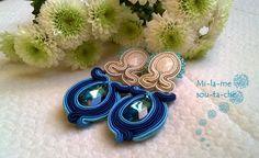 Bermuda Blue - kolczyki sutasz/ soutache earrings