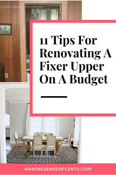 Saving Money When Renovating A Fixer Upper - Fixer Upper Homes : Here is how to save money when renovating a fixer upper – an abandoned 115 year old house. Renovating on a budget, fixer upper homes, is possible! What a beautiful renovated dining room! Renovation Budget, Cheap Renovations, Basement Renovations, Basement Ideas, Shabby Chic Vintage, Style Vintage, Home Improvement Projects, Home Projects, Architecture Renovation