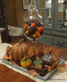Dorothy Sue and Millie B's too: My Goodwill Fall Tablescape for under $10