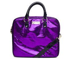 Betsey Johnson Crackle Metallic Laptop Case Purple up to 70% off | Handbags | Little Black Bag