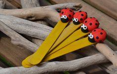"Bookmark ""ladybug"" polymer clay"
