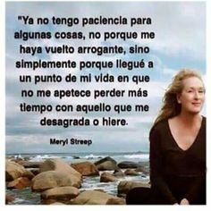 Meryl Streep say Merryl Streep, Great Quotes, Me Quotes, Spiritual Thoughts, More Than Words, Spanish Quotes, Good Thoughts, Woman Quotes, Beautiful Words