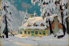 Specialists in selling artwork by Clarence A. Gagnon and other Canadian artists for over sixty years. Contact us to sell your artwork by Clarence A. Canadian Painters, Canadian Artists, Winter Painting, Winter Art, Clarence Gagnon, Quebec, Of Montreal, Christmas Past, Artist Art