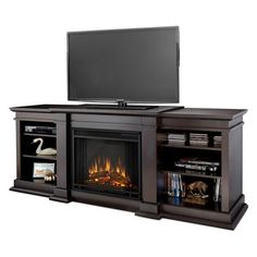 Real Flame Fresno Electric Fireplace - Dark Walnut - G1200E-DW