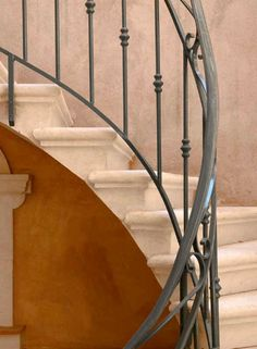 Railings - Wrought Iron- Hand Forged - Patina Finished : Custom Doors, Gates, Furniture, Pool Tables, Lighting & Hardware Handmade In USA Rod Iron Railing, Wrought Iron Handrail, Iron Handrails, Banisters, Hand Railing, Banister Ideas, Railing Design, Staircase Design, Front Porch Railings