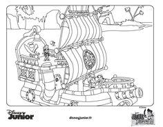 Coloriage de Jake (Jake et les Pirates du Pays Imaginaire) - © Disney