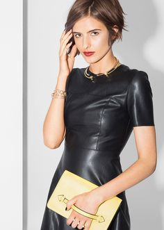 oh yes, leather dress.