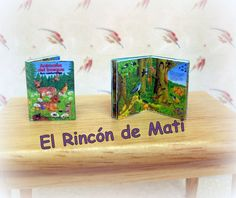 Animales del bosque, libro infantil, escala 1/12, miniatura para casa de muñecas. de ElRincondeMati en Etsy