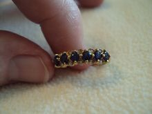 Ladies Sapphire & Diamond 14K Yellow Gold Ring