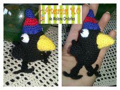 Cuervo con gorro de san lorenzo tejido a crochet!