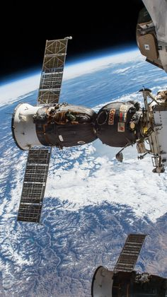 The Soyuz spacecraft that brought home Expedition 53 crew members Randy Bresnik of NASA, Sergey Ryazanskiy of Roscosmos and Paolo Nespoli of the European Space Agency, is pictured moments before undocking from the Rassvet module.