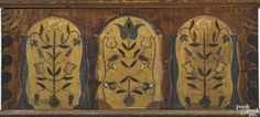 Pennsylvania or Southern painted poplar dower chest, ca. 1800, the lid with three tombstone panels - Price Estimate: $8000 - $12000