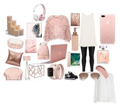 """""""Rose gold outfit"""" by juanitaej ❤ liked on Polyvore featuring Zizzi, New Balance, Beats by Dr. Dre, Rilee & Lo, Incase, MICHAEL Michael Kors, Burberry, Tom Ford, JAlexander and Frontgate"""
