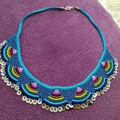 Crochet Gloves Pattern, Crochet Patterns, Sim, Beaded Jewelry, Crochet Necklace, Chokers, Beads, Handmade, Handmade Crafts
