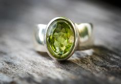Peridot Ring  Size 8 Peridot ring  Large by NaturalRockShop