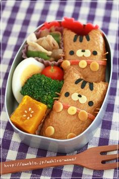Inari zushi cat bento