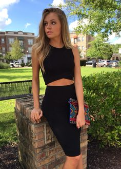 Black two piece outfit #swoonboutique