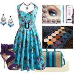 Pretty Floral Plus Size Dress