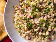 Creamed corn gets a Southwestern (and fast food!) twist with Chipotle corn salsa. The finished dish is studded with smoky bacon, a touch of lime zest and juice, and a final flourish of cilantro or scallions to cut through the creamy, fatty sauce.