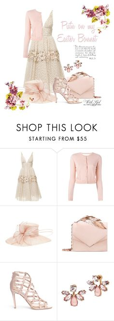 """""""Put'n on my Easter Bonnet"""" by quicherz ❤ liked on Polyvore featuring Carolina Herrera, RED Valentino, Phase Eight, RALPH & RUSSO, Jimmy Choo, Marchesa, WALL, Spring, Easter and blush"""