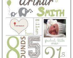 Baby Infographic (Custom) - Digital Print